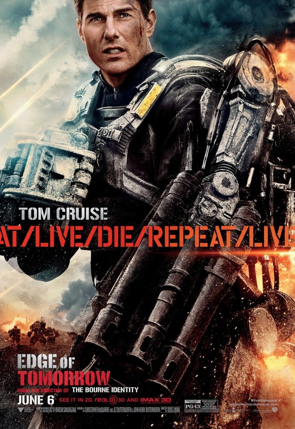 Tom Cruise Edge of Tomorrow character poster